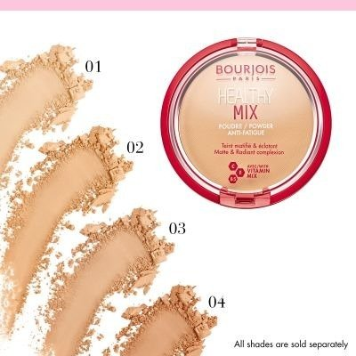 BOURJOIS Healthy Mix Anti-fatigue Puder 04 Light Bronze