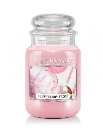 COUNTRY CANDLE Duży Słoik Blushberry Frose