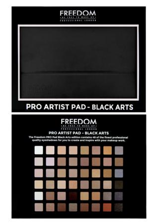FREEDOM Pro Artist Pad-black Zestaw 48 Cieni