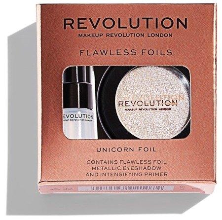 MAKEUP REVOLUTION Flawless Foils Cień Foliowy + Baza Unicorn Foil