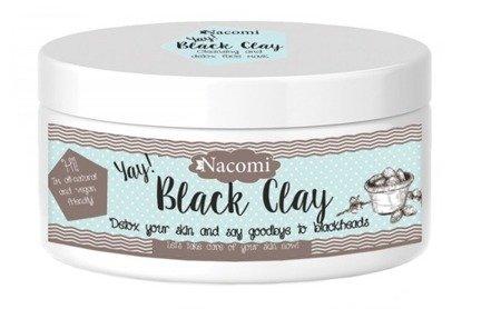 NACOMI BLACK CLAY CZARNA GLINKA  Maseczka Oczyszczająco-Detoksykująca do Twarzy i Ciała 90g
